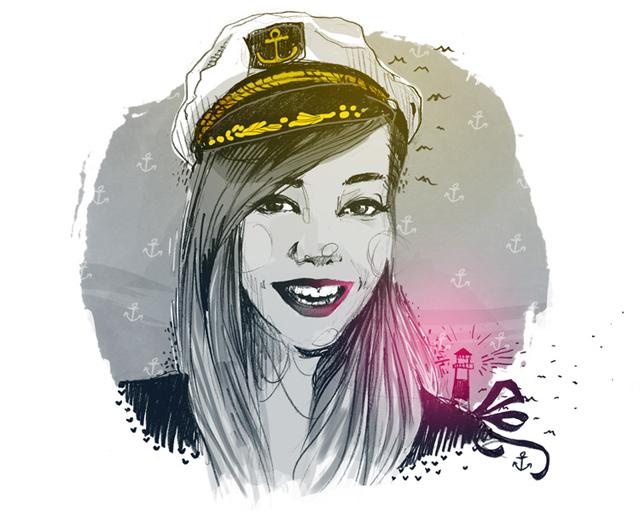 Küstenmerle Illustration von Nicoe Gebel