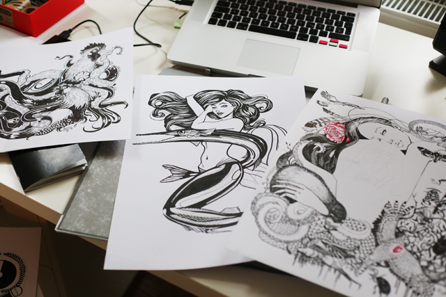 wohnung, kiel, ahoi nachbar, küstenmerle, Nicole Gebel, Illustration, Kunst